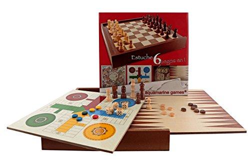 Aquamarine Games - 6 Juegos clásicos: ajedrez,...