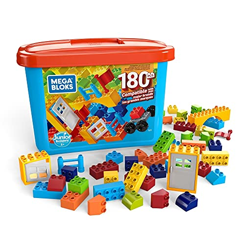 Mega Bloks Caja de 180 bloques de construcción,...