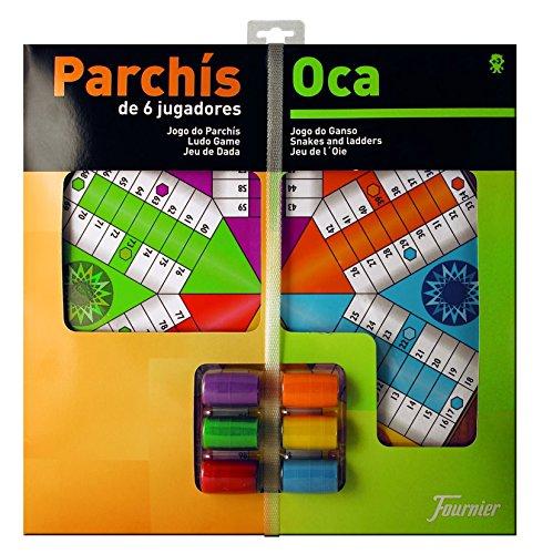 Fournier - Tablero Parchís/Oca y fichas, 40 x 40...