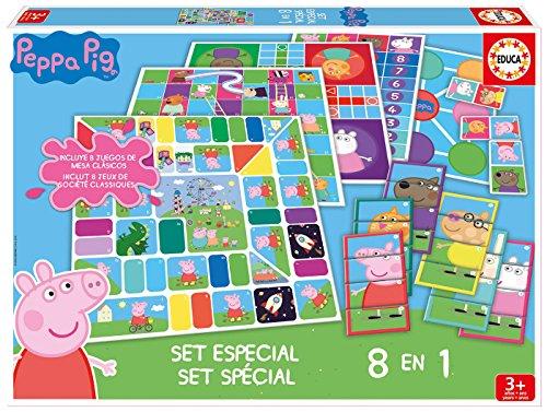 Educa Pig Peppa Pug Juegos, Set 8 En 1, multicolor...